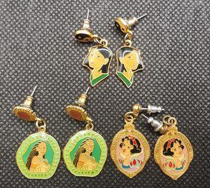 Vintage 90s Disney princesses Mulan, Pocahontas, Snow White earrings **$5 each pair** for Sale in Davis, CA