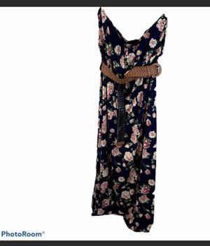 Stella Tweed navy floral sleeveless maxi dress plus size 2X for Sale in Surgoinsville, TN