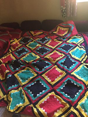 3 pc full size bedspread and pillow covers. Handmade from Pakistan. for Sale in Lutz, FL