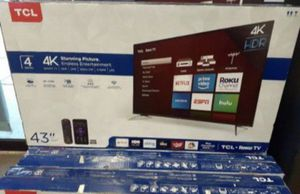 43 TCL ROKU TV 4k HDR SMART TV for Sale in Grand Terrace, CA