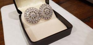 New. White gold over earrings for Sale in Houston, TX