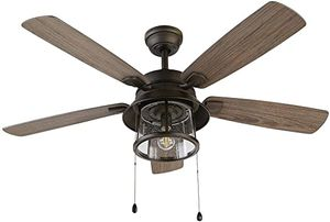 Shanahan 52 in. LED Indoor/Outdoor Bronze Ceiling Fan with Light Kit NEW for Sale in Plantation, FL