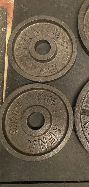 10lb weight plates for Sale in Weyers Cave, VA