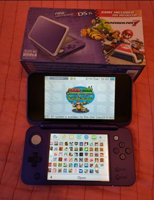 Silver and purple nintendo new 2ds xl with 130 3ds games , ds , 2ds , 64gb for Sale in Los Angeles, CA