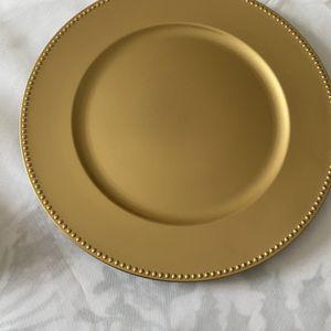 Golden Charger Plates for Sale in Burlington, NC