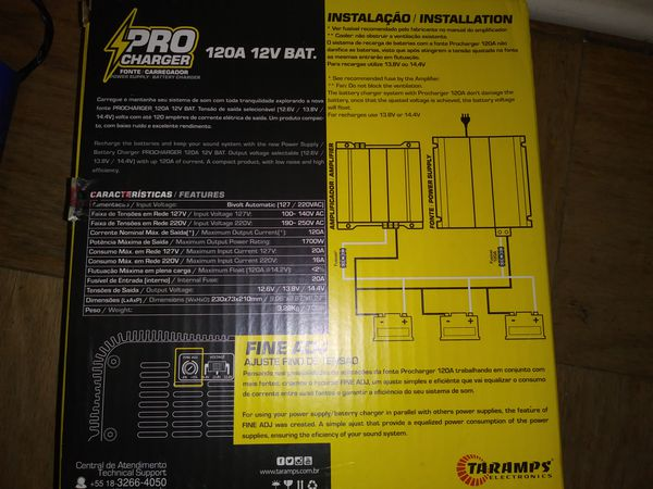 Taramps 120 amp charger/ power supply
