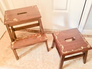 2 Stools. $45 for both TOGETHER! Each hand painted! Each One of a kind! for Sale in Alafaya, FL
