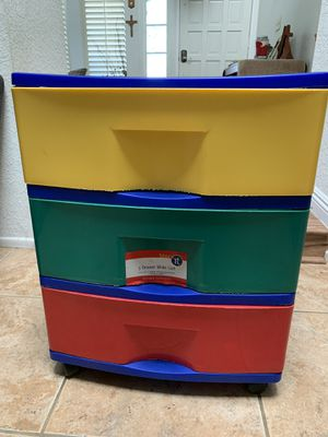 Kids Store it 3 drawers storage cart with 4 wheels for Sale in Chino Hills, CA