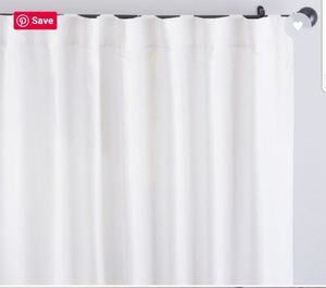 POTTERY BARN EMERY DRAPES New White for Sale in Cle Elum, WA