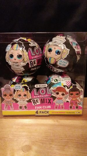 Lol Surprise ReMix Fan club 4 pack for Sale in Vacaville, CA