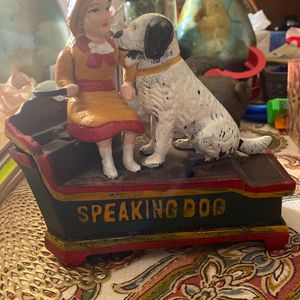 Cast Iron Speaking Dog Bank for Sale in Pottstown, PA