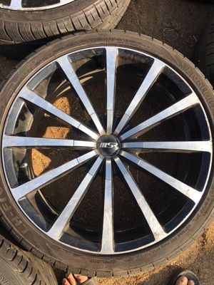 "20"" rims 5 lug universal. 5x100. 5x114 for Sale in Jurupa Valley, CA"