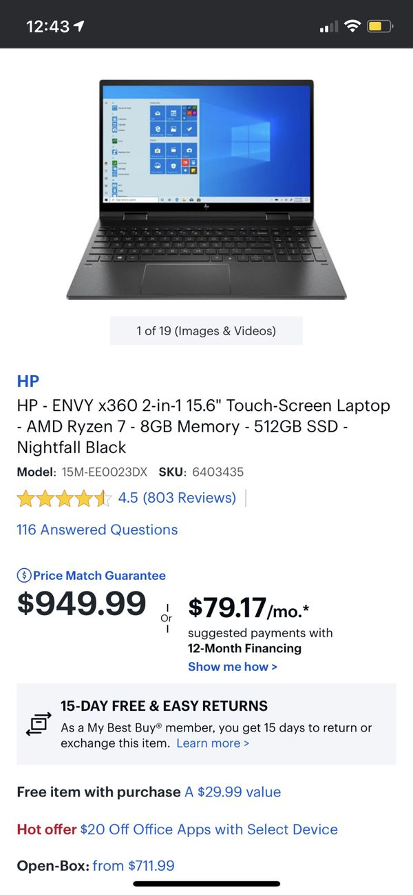HP X360 High Performance 2-in-1 Laptop Amd Ryzen