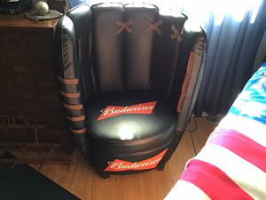 Chair Budweiser baseball glove chair for Sale in Seminole, FL