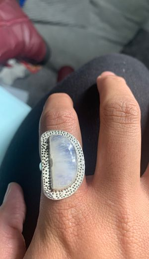 Large Rainbow moonstone healing Crystal ring size 6 for Sale in Lakeside, CA