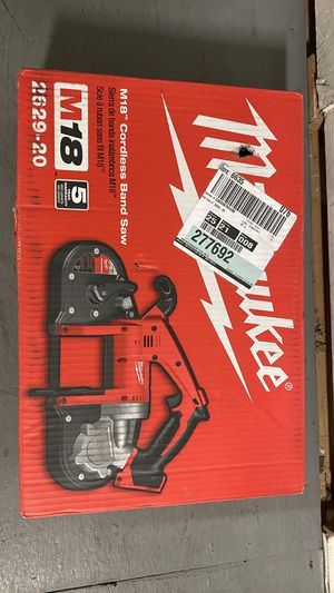 Milwaukee M18 Lithium-Ion Cordless Band Saw (Tool Only) 2629-20 for Sale in San Jose, CA