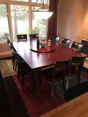 Beautiful cherry dining table and 10 chairs for Sale in Sunriver, OR
