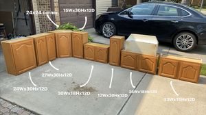 WALL CABINETS for sale (photo for sizes) for Sale in Bolingbrook, IL