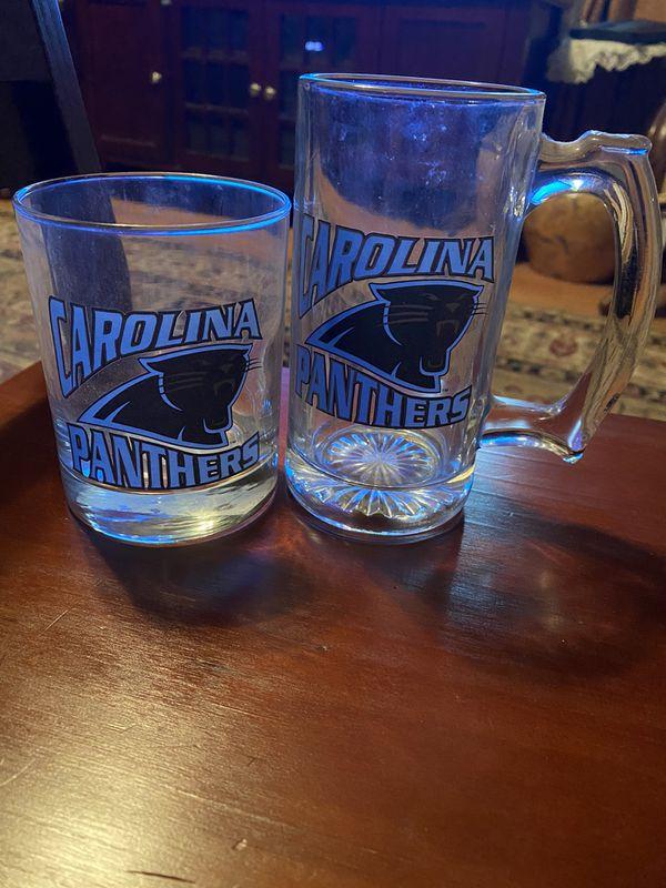 Carolina Panthers Glass Cups