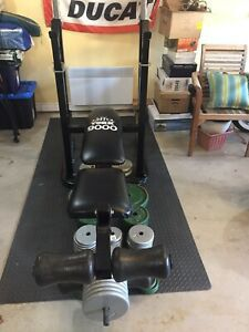 Bench Press, Squat Rack & Weight Plates for Sale in Maricopa, AZ