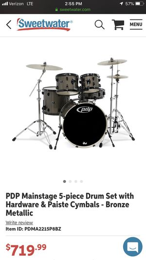 Drums 5pc PDP drum set! Hardly used!! Make an offer for Sale in Dallas, TX