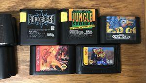 Sega Genesis video game system games road rash 3 quackshot lion king talespin classic vintage for Sale in Cleveland, OH