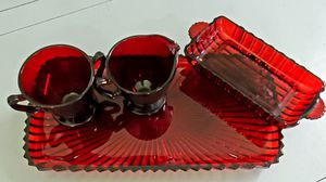 Ruby red glass ware for Sale in St. Louis, MO