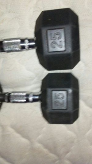 25 pound dumbbells 40 each for Sale in Grand Terrace, CA