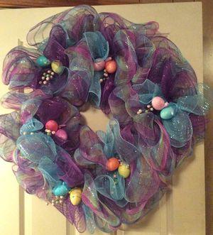 Easter Deco Mesh Wreath for Sale in Gerrardstown, WV