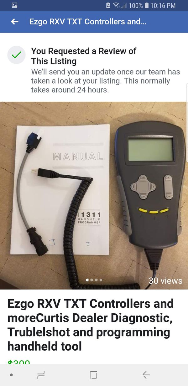 Ezgo RXV TXT Golf Cart Controllers and more Curtis Dealer Diagnostic,  Trublelshot and programming handheld tool for Sale in Bayonet Point, FL -