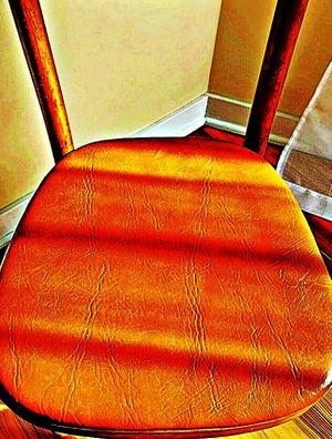 Wooden Shelby Williams Industries MCM chairs (4) with leather seat cushion. for Sale in Ewing Township, NJ