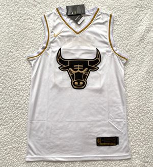 Michael Jordan Chicago Bulls Jersey - Brand New - Men's - Nike Golden Edition NBA White Jersey - Size S / M / L / XL for Sale in Chicago, IL
