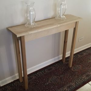 """36"""" Unfinished Bare Wood Narrow Sofa Entry Hallway Accent Side Table for Sale in Arlington Heights, IL"""