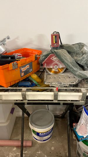 Wet saw and table for Sale in Dobbs Ferry, NY