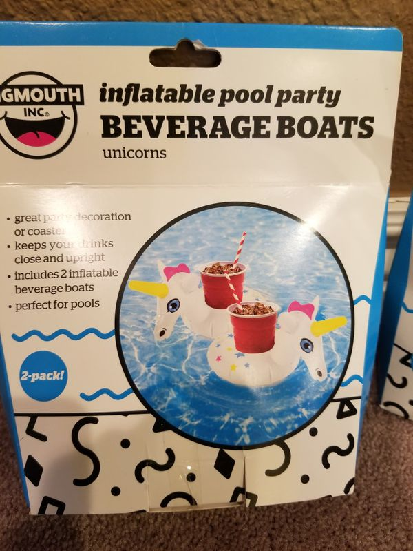 Inflatable beverage boats