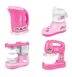 Kitchen Small Appliance Toy Pretend Play Set with Juicer Mixer Kettle and Coffee Maker for Sale in El Monte, CA