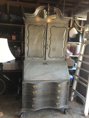 Burled Bookcase Secretary desk for Sale in San Jose, CA