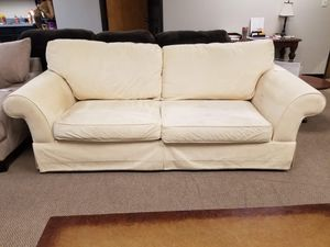 Cream Microfiber Couch for Sale in Denver, CO