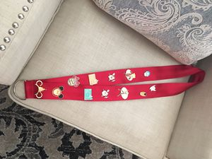 Extra Large Lanyard With 12 Disney Trading Pins for Sale in Murrieta, CA