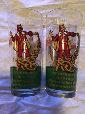 Burger King collectible glasses for Sale in Orlando, FL