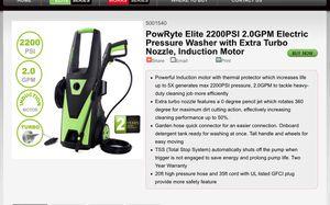 Powryte elite 2200 power pressure washer for Sale in Ontario, CA