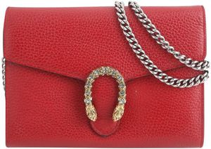 Gucci Chain Dionysus Mini Red Leather Cross Body Bag for Sale in Las Vegas, NV