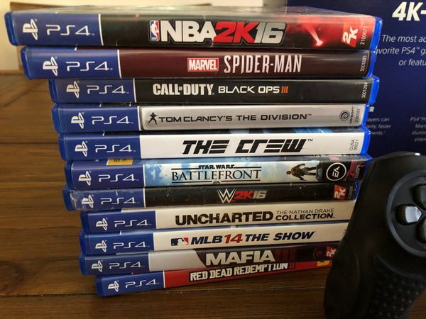 PS4, bundle, adult owned in like new condition