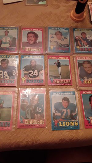 VINTAGE 1971 football Hall of fame lot (16 cards) Unitas, Tarkenton,Csonka,page,Lilly, warfield,Kelly etc for Sale in Lutz, FL