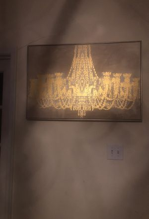 Gold Chandelier Picture for Sale in Chesapeake, VA