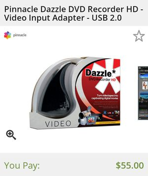 Dazzle VHS to digital movie converter for Sale in Peoria, IL