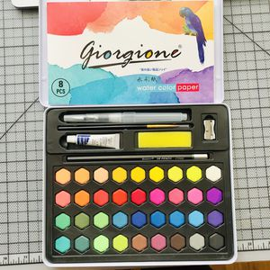 Solid watercolor paint set 36 color new with paper and brushes for Sale in San Francisco, CA