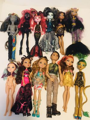 Used, Huge lot of ever after dolls and monster high dolls for Sale for sale  Rockport, IN