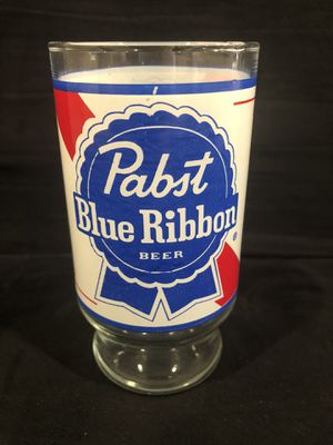 "PABST BLUE RIBBON BEER ADVERTISING COLLECTIBLE DRINKING GLASS 5-1/2"" TALL TUMBLER for Sale in Harmony, PA"