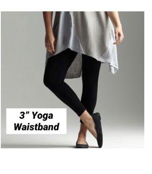 "New Black Leggings 3"" Yoga Waistband soft as Lularoe for Sale in Saginaw, MI"